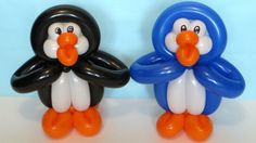 Penguin of twisting balloons tutorial
