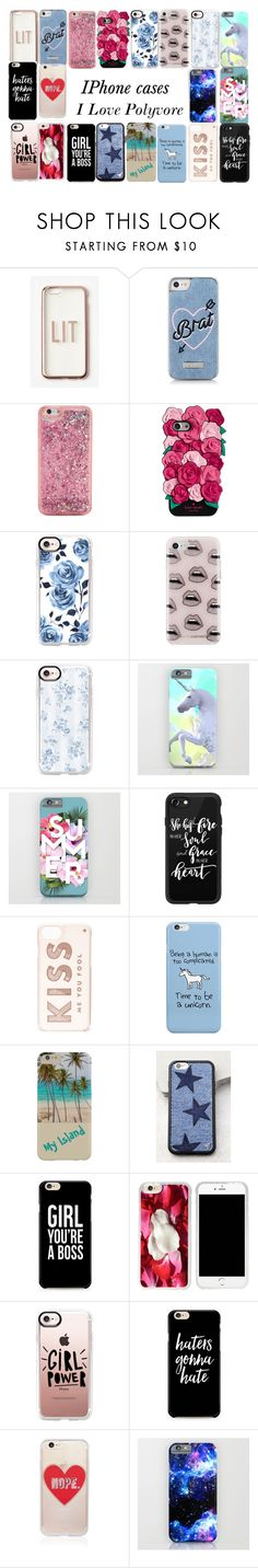 """Iphone Cases"" by model06 ❤ liked on Polyvore featuring Missguided, Skinnydip, ban.do, Kate Spade, Casetify, Rebecca Minkoff, Wildflower and Sonix"