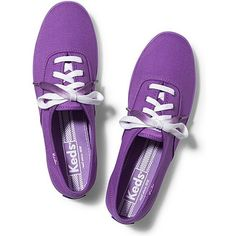 Keds Champion Dip Dye Lace featuring polyvore, fashion, shoes, sneakers, purple, clothing, keds, keds sneakers, colorful shoes, multi color shoes, colorful sneakers and lace up shoes