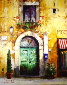 Russian artist Gleb Goloubetski | Tuscany door 100x80 2007