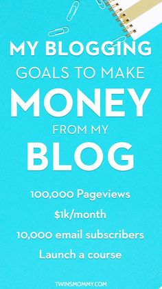 How I Plan to Make Money Blogging On a New Blog | Do you have a blog or mom blog? Here are my blogging goals to make money online. Whether you work from home or have a 9-5 job and want to monetize your blog, here is what my step-by-step plan to make money blogging.