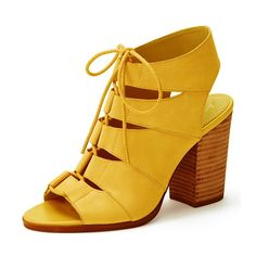 YDN Women Stacked Heel Peep Toe Sandals Booties Ankle Gladiator Shoes Lace Up ** Check this awesome product by going to the link at the image.