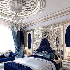 Bedroom Design Ideas – Create Your Own Private Sanctuary Luxury Bedroom Design, Master Bedroom Design, Luxury Interior, Interior Design, Dream Rooms, Dream Bedroom, Royal Bedroom, Luxurious Bedrooms, Beautiful Bedrooms