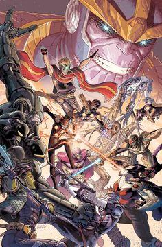 Infinity Gauntlet #4 by Dustin Weaver *