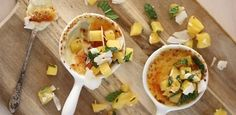 With pineapple salsa; a tropical treat! recipes, fruit, desserts