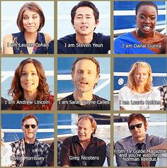 The Walking Dead, Season 3....and no, there is no mix up in Sarah & Andrew's names! ...That's how the interview went lol