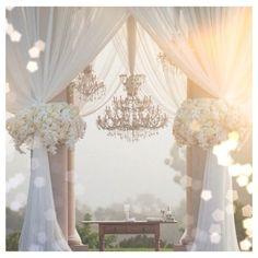Beautiful wedding ceremony backdrop. Minus the flowers for my wedding...