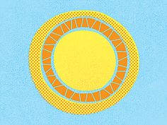 Sun by brian hurst Sun Illustration, Sun Painting, Sun Logo, Sun Moon Stars, Sun Art, Summer Solstice, My Sunshine, Pattern Wallpaper, Cool Art