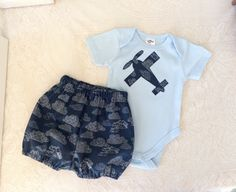 A personal favourite from my Etsy shop https://www.etsy.com/au/listing/607970669/baby-boys-outfit-bloomers-and-bodysuit