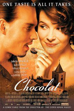 Chocolat Movie Poster  One of my favorite movies