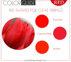 The best red color shades for Clear Spring seasonal color women