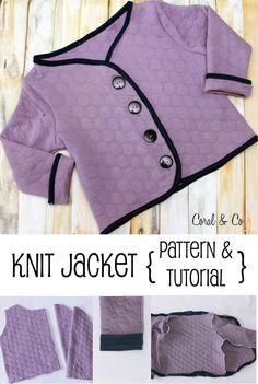 FreenStella  Knit Coat Pattern and Tutorial