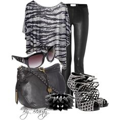Black and Grey!, created by beautyranker on Polyvore