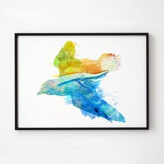Wildlife watercolor. Bird art. Colorful print.  Printed on high quality art paper.  SIZES:  8.3 x 11.7 (A4) 11.7 x 16.5 (A3)  This print comes