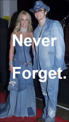 Britney Spears and Justin Timberlake. Full-body denim. Never forget.