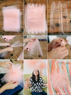 Weddings on Share Sunday Tutu tulle pom pom tutorial great for a ballerina party or wedding. Ballerina Party, Ballerina Baby Showers, Ballerina Birthday Parties, 1st Birthday Parties, Girl Birthday, Birthday Ideas, Tutu Party, Baby Party, Pom Pom Tutorial