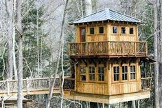 Two-story tree house