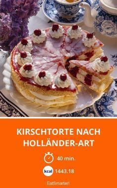 Kirschtorte nach Holländer-Art - smarter - Zeit: 40 Min.   eatsmarter.de Pie Co, Eat Smarter, Camembert Cheese, Breakfast, Food, November, Europe, Cherry Pie Recipes, Bakken