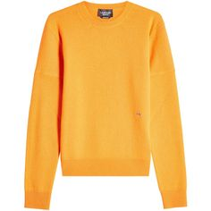 CALVIN KLEIN 205W39NYC Cashmere Pullover ($1,360) ❤ liked on Polyvore featuring tops, sweaters, orange, slim fit sweater, pullover sweater, slim sweaters, cashmere pullover and logo sweaters