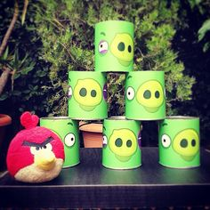 the Cans kids games Fun Activities For Kids, Games For Kids, Party Games, Planter Pots, Canning, Angry Birds, Mugs, Tableware, Drop