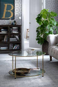Ellos Home Soffbord Missi Ø 80 cm - Guld - Hem & inredning - Ellos.se