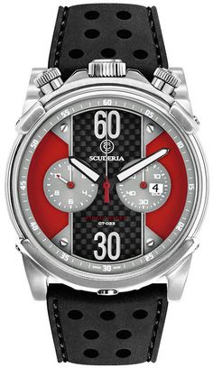 CT Scuderia Watch Street Racer Chronograph #bezel-fixed #bracelet-strap-rubber…