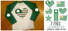 Set of Six St. Patrick's Day Free Silhouette Studio Cut Files                                                                                                                                                                                 More