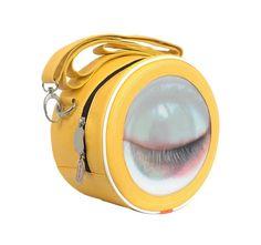 Hi-Di-Hi Winky winking eye Yellow Shoulder Bag Yellow Purses, Yellow Handbag, Yellow Bags, Yellow Shoulder Bags, Ecommerce Platforms, Handbags, Big, My Style, Festival Bags