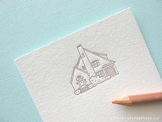 house sketch moving announcement by duetletterpress, via Flickr