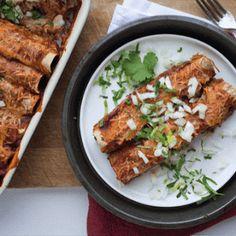 cooking the recipe: Walnut and Mushroom Vegetarian Enchiladas