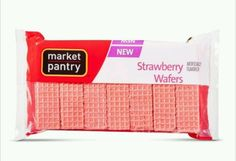 Strawberry Wafers Cookies Market Pantry (2-8oz Packages) Cookie Snacks Dessert