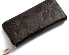 Dámska kožená peňaženka s kvetinovou textúrou9