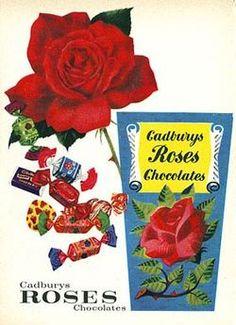 remembers Norma Vaughan the comedian and show host doing the TV ad in the Roses Grow On You! Retro Advertising, Advertising Signs, Vintage Advertisements, Vintage Sweets, Vintage Candy, Vintage Food, Chocolate Brands, Chocolate Shop, Sweet Memories