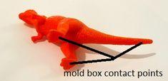 dinosaur model underside -- basic mold making techniques