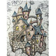 The castle is finished! More tomorrow; from Klára Marková's gorgeous Čarovné lahodnosti (Magical Delights) ❤ ⭐️⭐️⭐️ #carovnelahodnosti #magicaldelights #klaramarkova #adultcolouringbooks #arttherapy #adultcoloringbook #coloringbook #colouredpencils #enchantedcoloring #artecomoterapia #coloring_masterpieces #coloring_secrets #bayan_boyan #colorindomeujardimencantado #docepapelatelier #fantasy #prismacolor