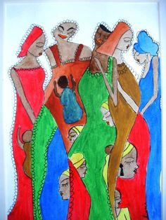 Acrylic African Abstract print of original by darinecraftyshop, £15.00