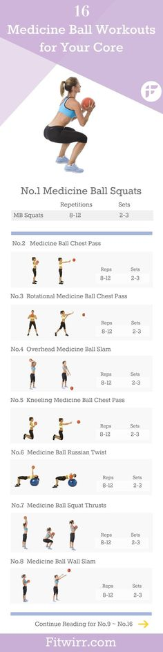 16 medicine ball exercises to try. #medicineball #flexibility #exercise: