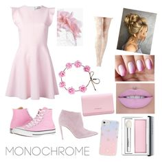 """""""Pink Love"""" by irishgirlcc ❤ liked on Polyvore featuring MSGM, Converse, Ralph Lauren, Clinique, Givenchy, Sonix and Boohoo"""