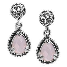 CP Signature Sterling Silver Pink Opal Doublet Drop Earrings #CarolynPollackJewelry #PantoneColor #2016