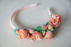 #розовый #персиковый #пудра #розы #роза #foamiran #rose #pink #band #for girl #ободокизфоамирана