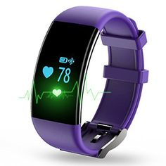 Longess Fitness Tracker, App-Enabled Bluetooth 4.0 Water Resistance Smart Watch, Sleep and Heart Rate Monitor Compatible with Android and IOS Smartphones (Purple) - http://www.exercisejoy.com/longess-fitness-tracker-app-enabled-bluetooth-4-0-water-resistance-smart-watch-sleep-and-heart-rate-monitor-compatible-with-android-and-ios-smartphones-purple/fitness/
