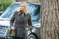 The ladies Penchford jacket is luxurious yet practical - http://www.barbour.com/uk/all-collections/womens/waxed-jackets/penchford-waxed-jacket/p/LWX0323OL7110?breadcrumbs=