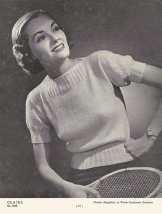 Free Vintage Knitting Pattern: 1930's Cashmere Blouse