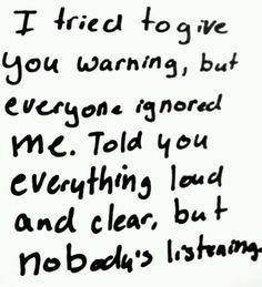 Linkin Park lyrics - nobody's listening