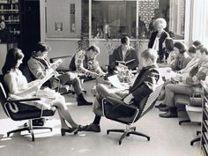 I thought this pic and description was interesting (No Computers).....LIBRARY: Hub of Learning, ca; 1970's