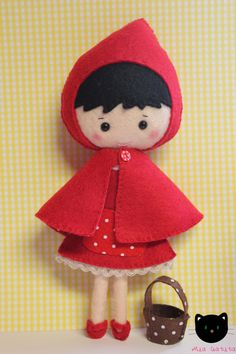 Red Hood felt doll by MiaGatita on Etsy