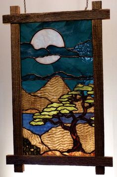 Stained Glass Birds, Faux Stained Glass, Stained Glass Designs, Stained Glass Panels, Stained Glass Projects, Stained Glass Patterns, Fused Glass, Glass Painting Patterns, Reclaimed Wood Frames