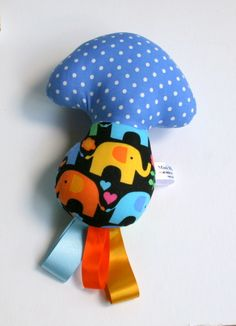 mushroom rattle( bright elephants) £11.50