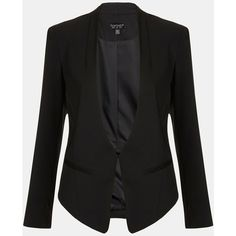 Topshop Angled Blazer ($130) ❤ liked on Polyvore