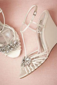 Gigi Wedge from BHLDN Wedding Wedges, Beach Wedding Sandals, Wedge Wedding Shoes, Wedding Heels, Wedge Shoes, Bridal Heels, Bridal Rings, Wedge Sandals, Annabelle Dress